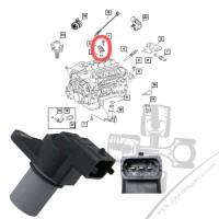 Chrysler 300C 3.0CRD 05-10 Eksantrik Sensörü 5080346AA