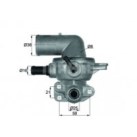Chrysler Voyager RS 2.8CRD 2000-2008 Termostat Mahle