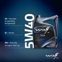 4Litre Wolf Lubricant Motor Yağı VITALTECH 5W40 Made in Belgium